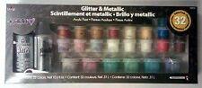FolkArt Metallic Acrylic Paint Set Water Base Non Toxic Shimmer 32 Colors NEW