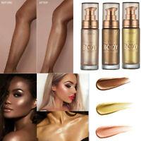 PHOERA Body Luminizer Cream Face Body Shimmer Liquid Highlighter Brighten
