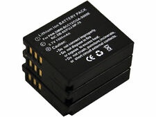 New 3 PIECE NP-70 DMW-BCC12 CGA-S005E DB-6 Camera Battery For FinePix F20 Zoom