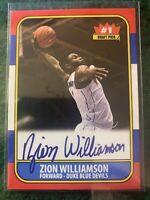 Zion Williamson 1986-87 Inspired ACEO Duke Blue Devils Facsimile Autograph