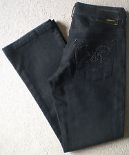 Women's River Island Bootcut Jeans Size 10S (36S) W27 L29 Black Low Rise Stretch