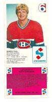 MONTREAL CANADIENS PIERRE MONDOU, STEINBERG, NHL HOCKEY CARD