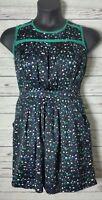 I Heart Ronson Womens Sz 6 Dress Confetti Pleated Frayed Pockets Sheath