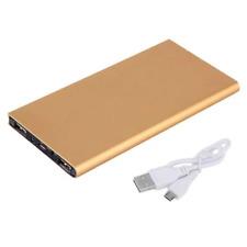 Power BANK 20000 mah 2 USB Ultra Slim LED Caricabatteria Cellulare Oro