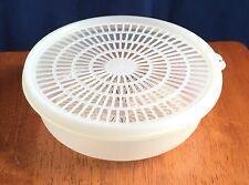 Tupperware Small Round Clear Colander w/Flow-Through Seal