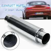 "Universal Exhaust Resonator Muffler Silencer 16"" Long 3'' Inlet Outlet  +"