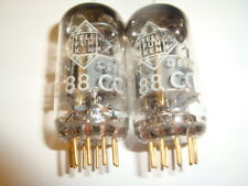 Matched Pair of NOS E88CC (6922) Gold pin Tubes, By Telefunken, Diamond Bottom