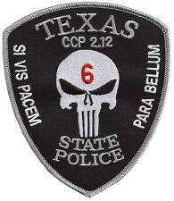 """Texas SP SI VIS PACEM PARA BELLUM Shoulder Patch - 5"""" T x 4 3/8"""" W  - NEW"""