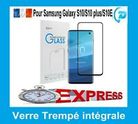 Film écran verre trempé intégrale 3D incurvé Samsung Galaxy S10 S10 Plus S10E