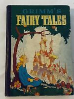 Vintage Grimm's Fairy Tales Book Illustrated by Goldy Young 1934 Edition Rare