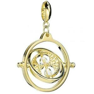 Harry Potter Gold Plated Crystal Charm Time Turner Official Product