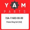 15A-11603-00-00 Yamaha Piston ring set (std) 15A116030000, New Genuine OEM Part