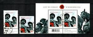 CANADA Scott's 2341, 41a, 42 ( S/S ) National War Memorial F/VF Used ( 2009 ) #3