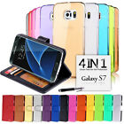 VALUE PACK Wallet & Gel 4in1 Accessory Bundle Kit Case Cover F Samsung Galaxy S7