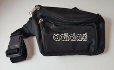 Vintage Adidas Bum Bag Fanny Pack Cross Shoulder Waist Black White 90s Unisex