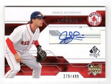 JED LOWRIE MLB 2008 SP AUTHENTIC #/ 499 (AUTO RC) RED SOX,ASTROS,ATHLETICS