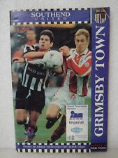SIGNED  - GRIMSBY TOWN PROGRAMME 1995 WITH 12 SIGNATURES    NO AUTHENTICATION