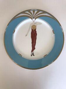 """Erte Collectible  12"""" Art Deco Plate Set 1985 Japan - 13 plates"""