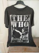 THE WHO Amplified T-shirt Large L - Tour 1973- Grey