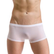 Thin Transparent Sexy Ice Silk Boxers Brief Men Excellent Best Underwear Short