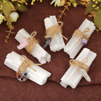 Rough Stone Crystal Raw Selenite Stick Wands Bunch Pendant Set Protection Gift