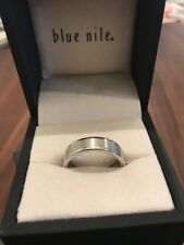 Blue Nile Men's Brushed & Polished Comfort Fit Wedding Ring in Tungsten Size 10