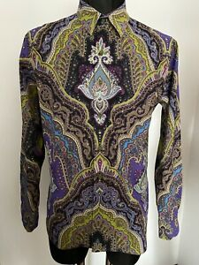 LAST PRICE!Robert Graham Abstract Embroidered Paisley Shirt  NEW Rare Find $369$