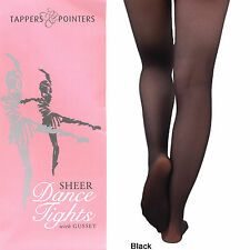 Quality Tappers & Pointers Ballet Dance Tight Pink Black White 3 Yrs-13+
