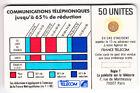VARIETE TELECARTE CORDON BLANC .. 50U Ko58 ENTOURAGE PUCE V° JAUNE 712812 C.?€