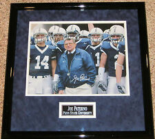 Joe Paterno SIGNED 11x14 Penn State Nittany Lions FRAMED  w/ PROOF
