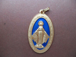 Wundertätige Medaille der Gottesmutter, blau-goldfarben