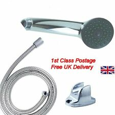 new Bathroom shower head and 1.5m flexible Hose Pipe chrome set bath bracket