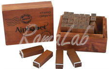 Set 28 Timbri in legno - Alfabeto Papermania PMA 174641