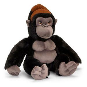 Korimco 30cm Keeleco Gorilla Plush Soft Animal Stuffed Toy Kids/Children 3y+ BLK