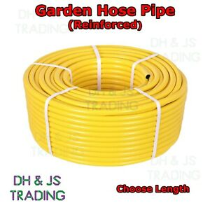 Garden Hose Pipe Reel Reinforced Outdoor Hosepipe Yellow - 3M 5M 10M 15M 20M 30M