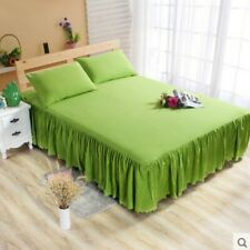 Green Single Ruffle Bedding Bed Spreads Cover Sheet Valance Bed Skirt 0.7X1.9M #