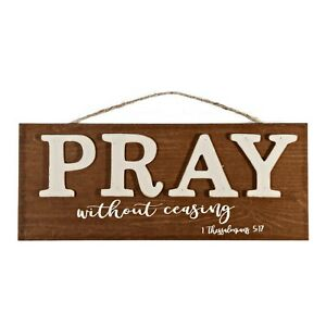 1 New Wall Sign Harvest Pray Without Ceasing 1 Thessalonians 5:1 Home Decor