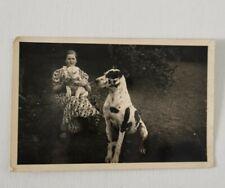 Frau mit Hund Originalfoto 9x14 cm um 1940 Hundewelpe