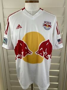 New York Red Bulls MLS Authentic Adidas Climacool Soccer Jersey Adult 2XL