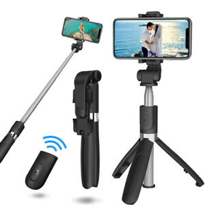 Remote Bluetooth Handheld Stand Selfie Stick Plastic Extendable Wireless Shutter