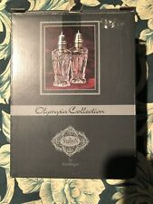 Olympia Collection Shannon crystal Salt And Pepper Shakers New
