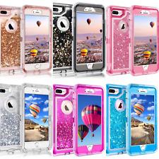 For iPhone 8 Plus 7 6S Plus XR X Defender Liquid Glitter Case fits Otterbox Clip