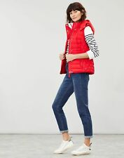 Joules Womens Padston Padded Gilet - Red - 12