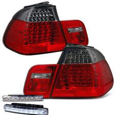 1999-2001 BMW 3-SERIES E46 REAR BRAKE TAIL LIGHT RED/SMOKED+LED BUMPER RUNNING