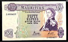 Mauritius 1967, 50 Rupees  P33c  Queen Elizabeth II UNC
