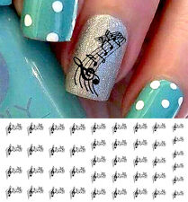 Sheet Music Notes Set #1 Nail Art Waterslide Decals - Salon Quality!