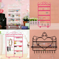 Womens Earrings Necklace Ear Studs Jewelry Display Rack Stand Organizer Holder