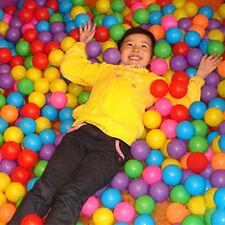50x Secure Ocean Balls Baby Kid Toys Swim Pool Fun Play Colorful Soft Plastic .*