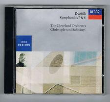 DVORAK - SYMPHONIES N° 7 & 8 -VON DOHNANYI - DECCA 1991 - CD EN TRÈS BON ÉTAT