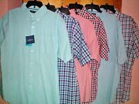 NWT NEW mens CROFT & BARROW s/s comfort stretch woven dress shirt $40 free ship
